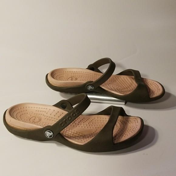 0e70c228d2e7 CROCS Shoes - Crocs slip on sandals women s shoes size 8